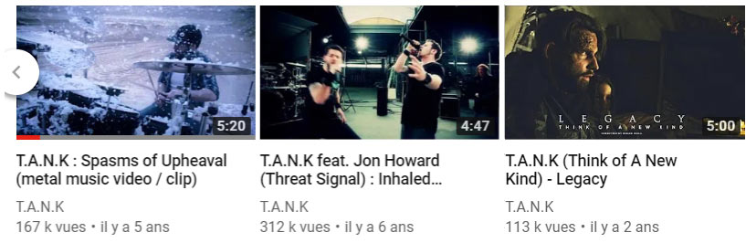 T.A.N.K videos on youtube